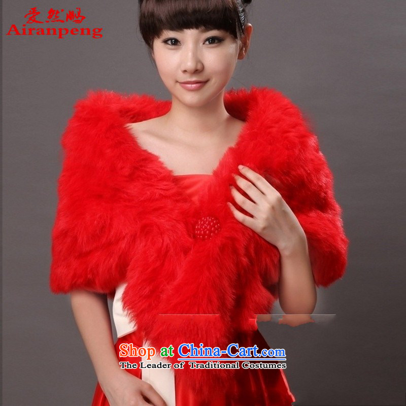 The bride wedding dresses Red Hair Loss special promotions spaniel shawl fur gross warm winter shawl new red