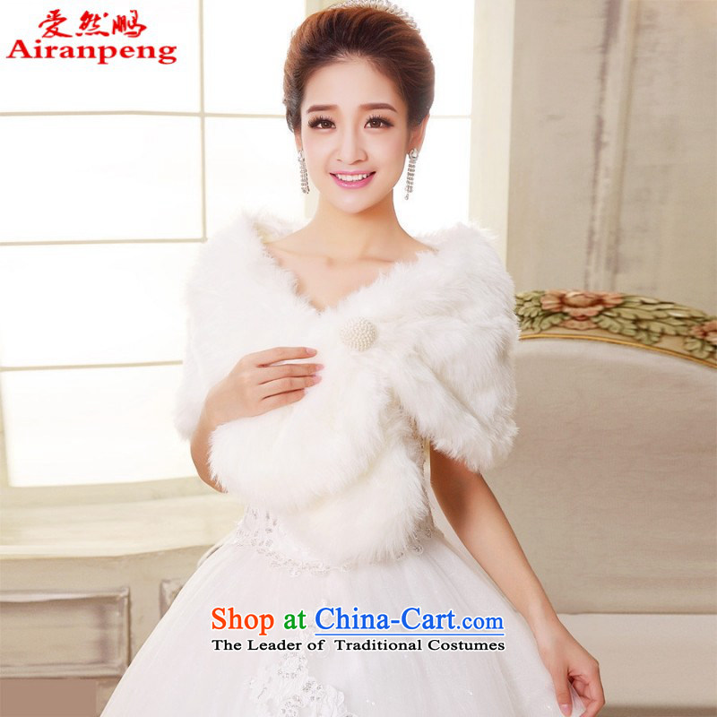 The bride wedding dresses Red Hair Loss special promotions spaniel shawl fur gross warm winter shawl new red, love so Peng (AIRANPENG) , , , shopping on the Internet