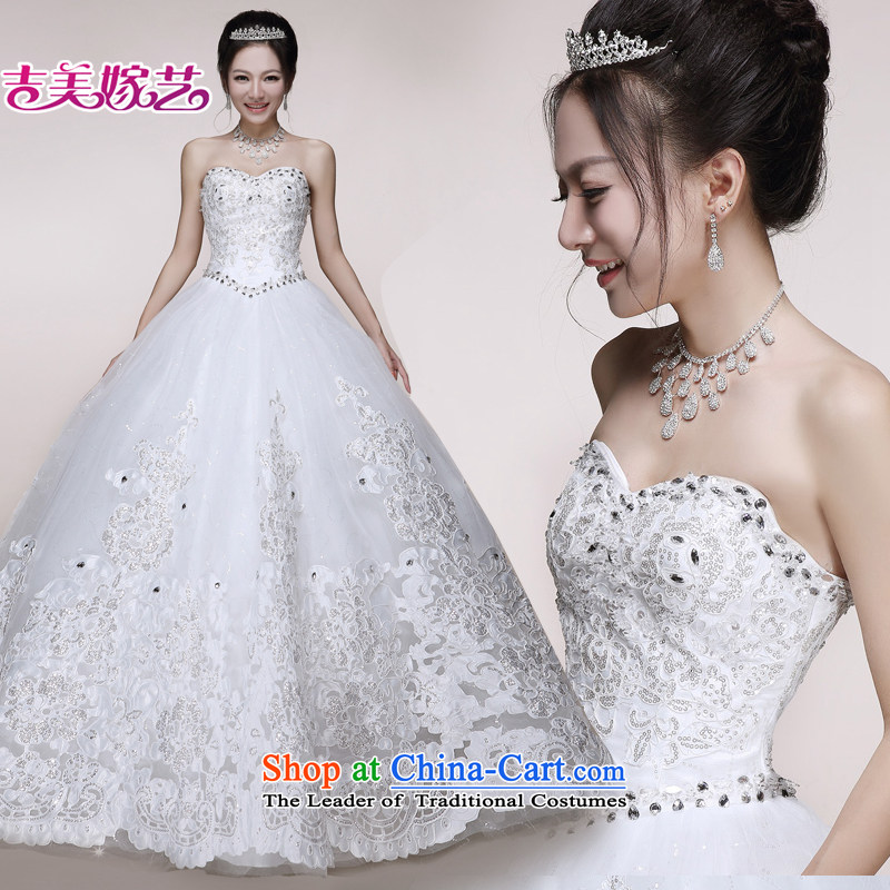Wedding dress Kyrgyz-american married new anointed arts 2015 chest lace bon bon skirt HS7510 bride wedding ivory align to M