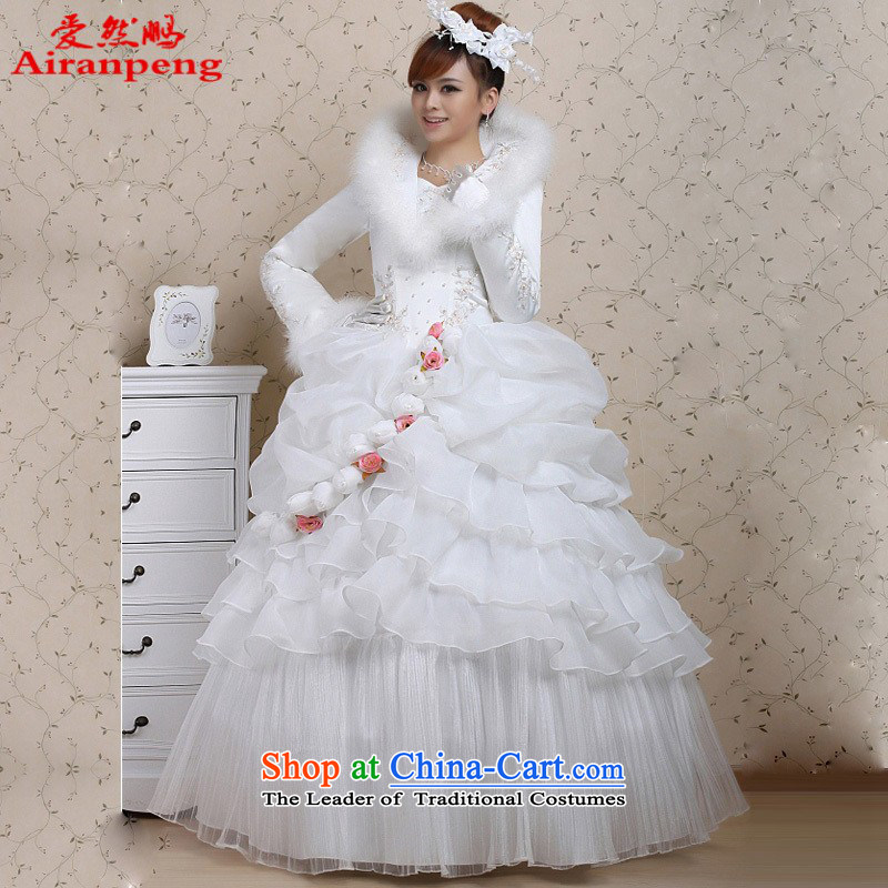 2014 new roses for winter wedding plus cotton Hot Winter wedding dresses?need to qipao XXL not refunded