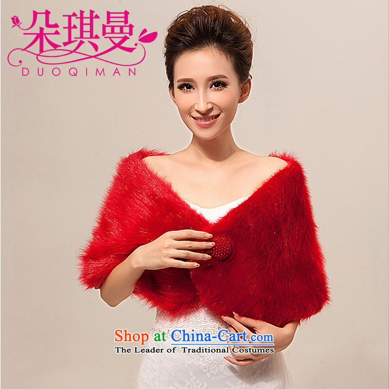 The latte macchiato Qi Cayman wedding accessories shawl bride shawl Gross Gross wedding shawl marriage jacket shawl autumn and winter red