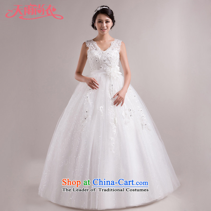 Rain-sang yi 2015 new bride wedding dress Korean Princess strap shoulders Top Loin of pregnant women wedding HS852 tailored White