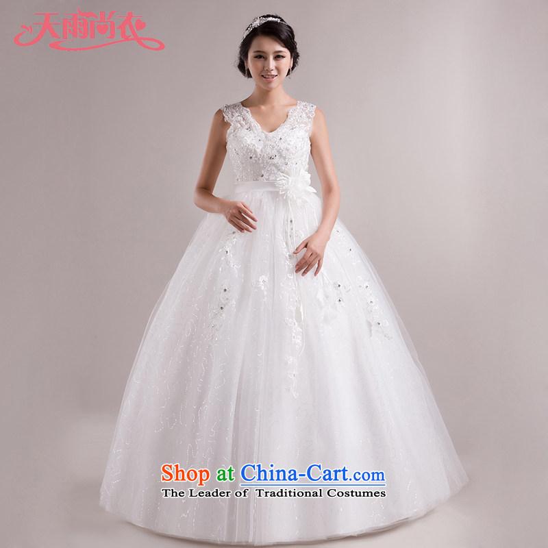 Rain-sang yi 2015 new bride wedding dress Korean Princess strap shoulders Top Loin of pregnant women wedding HS852 tailored White