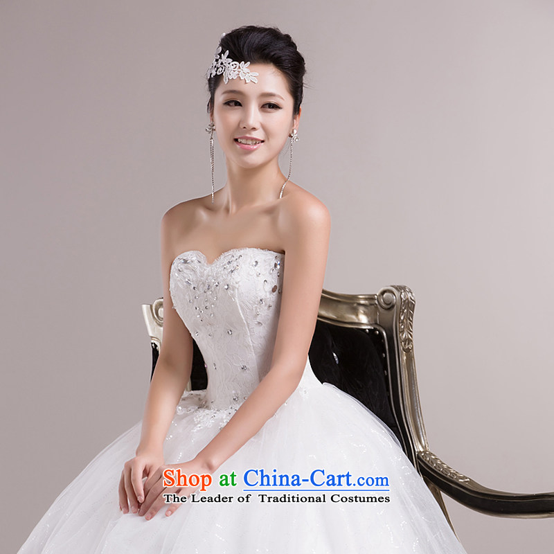 Rain-sang yi wedding dresses 2015 new Korean Princess Mary Magdalene chest with white strap bon bon skirt White gauze HS858 white Suzhou shipment tailored, rain-sang Yi shopping on the Internet has been pressed.