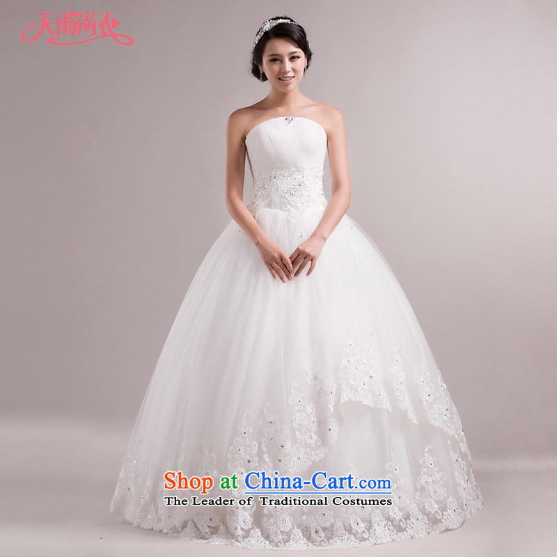 Rain-sang yi wedding dresses 2015 new spring lace white breast tissue marriage Korean Princess diamond HS861 lace white Suzhou shipment tailored