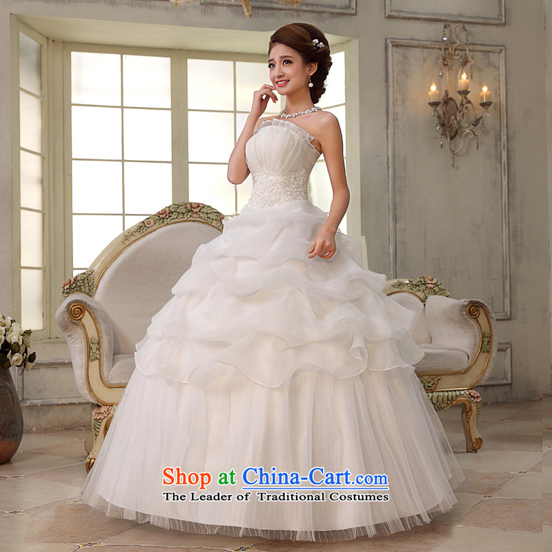 Rain-sang yi bride wedding dress wedding minimalist temperament wedding Princess Mary Magdalene Chest straps, white wedding HS843 to align the white Suzhou shipment tailored, rain-sang Yi shopping on the Internet has been pressed.