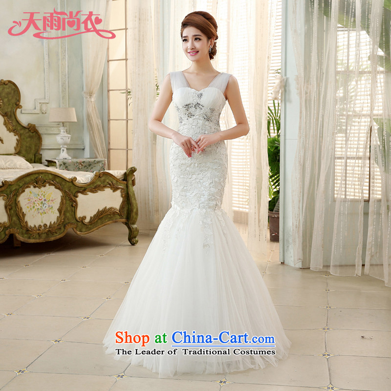 Rain-sang yi crowsfoot dress code 2015 new Korean lace marriages women shoulders wedding HS866 white Suzhou shipment tailored