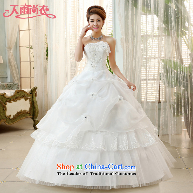 Rain-sang yi wedding dresses new Korean sweet princess wedding alignment with chest retro niba wedding dress summer HS864 white Suzhou shipment tailored