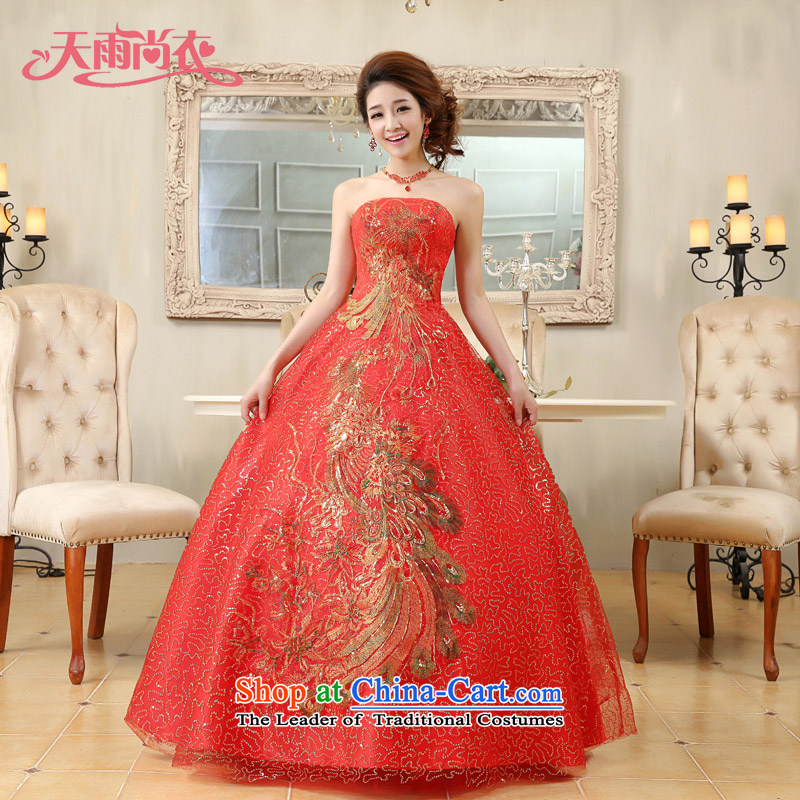 Rain-sang yi new bride wedding dresses wedding dresses marriage under the auspices of large red wedding?HS825?tailored red