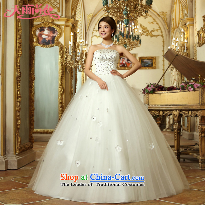 Rain-sang yi?2015 bride wedding new marriage Princess White gauze align to bind with diamond?HS911?tailored White