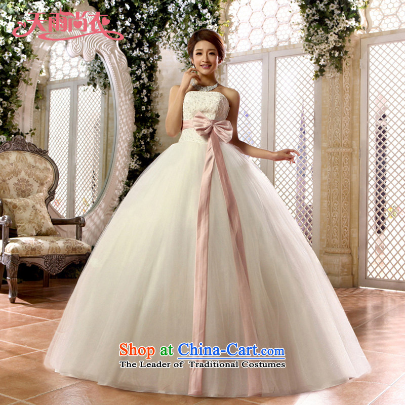 Rain-sang yi bride Wedding 2015 new sweet white gauze wiping the chest princess dress code strap聽HS918 large聽white tailored
