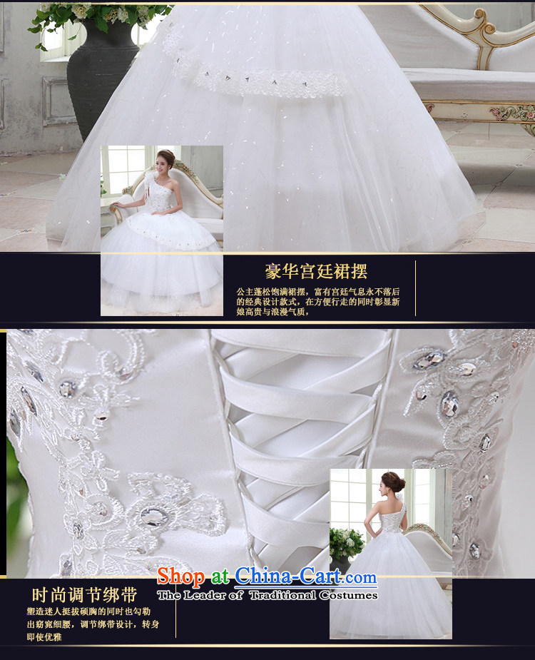Rain-sang yi bride Wedding 2015 new marriage yarn Korean brides shoulder straps princess flowers water drilling to align HS928 lace white tailored picture, prices, brand platters! The elections are supplied in the national character of distribution, so action, buy now enjoy more preferential! As soon as possible.