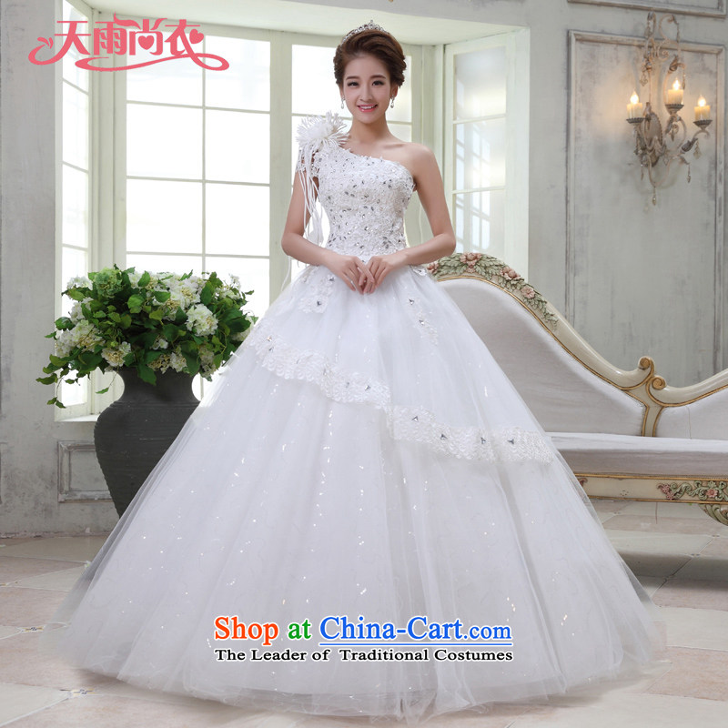 Rain-sang yi bride Wedding 2015 new marriage yarn Korean brides shoulder straps princess flowers water drilling to align HS928 lace white tailored