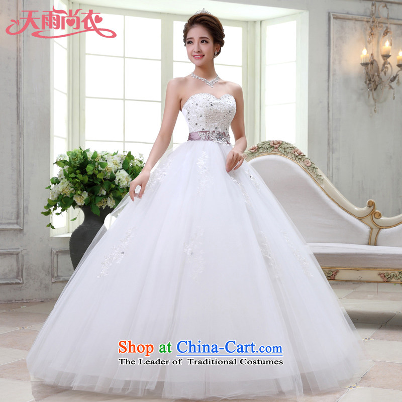 Rain-sang Yi marriages 2015 new products Korean sweet Princess Mary Magdalene Chest straps wedding video thin,聽HS927聽tailored White