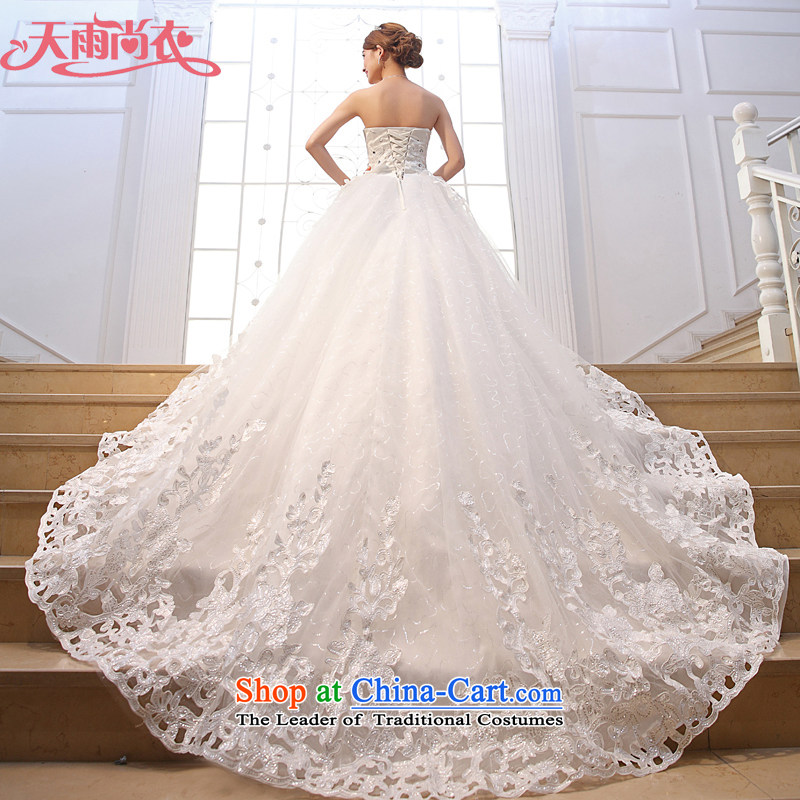 Rain-sang yi?2015 new bride with Korean style wedding dresses and chest Deluxe Big tail HS929 tailored White