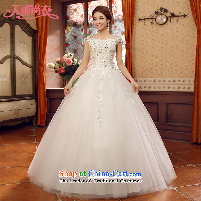 Rain-sang Yi New 2015 Korean word dress shoulder bags shoulder straps to align the bride white winter wedding video HS934 thin white tailored
