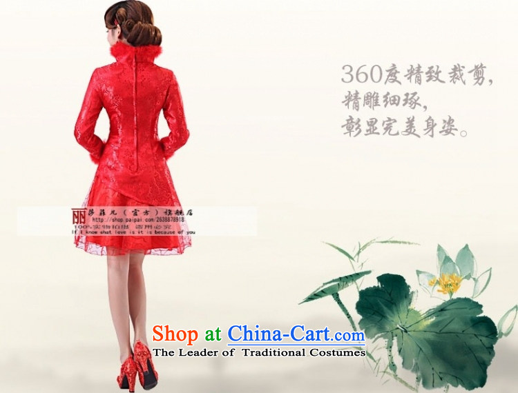 Qipao Winter 2014 new long-sleeved bridal dresses marriage autumn and winter, short of qipao red cotton XXXL services need to be followed by a non-returnable picture, prices, brand platters! The elections are supplied in the national character of distribution, so action, buy now enjoy more preferential! As soon as possible.