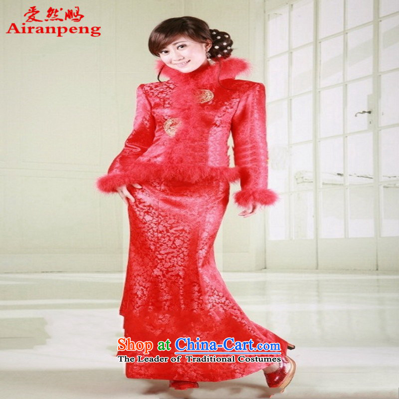 Winter clothing red dragon two round crowsfoot qipao gown brides Sau San wedding dress new customers to the size of the winter will not be returning to