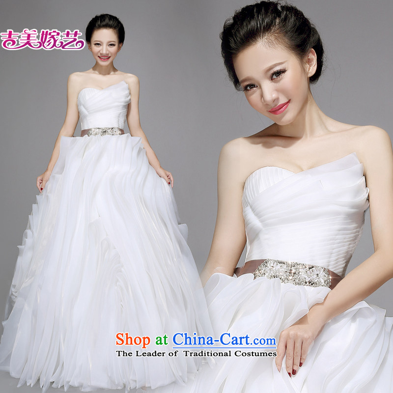Wedding dress Kyrgyz-american married new anointed arts 2015 chest vera wang wei wang wei HT7563 bride wedding ivory tail?XXL?made