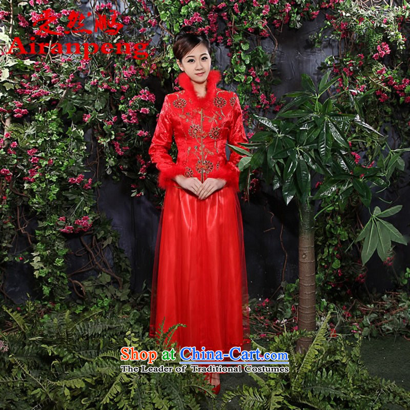 2014 new bride wedding dresses qipao Chinese qipao marriage kit for winter wedding dresses - 28 July 1995 6335 customer to sepia size not returning to