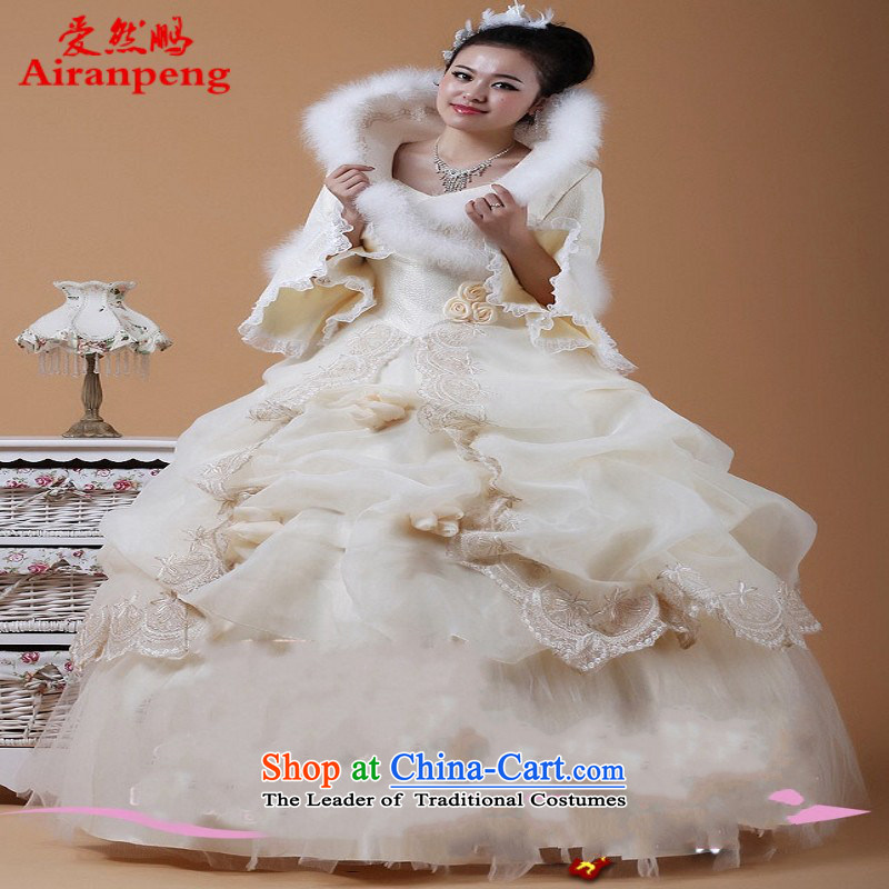 The bride butterflies fly cotton winter wedding cotton wedding bride wedding long-sleeved wedding customer to do not returning the size to