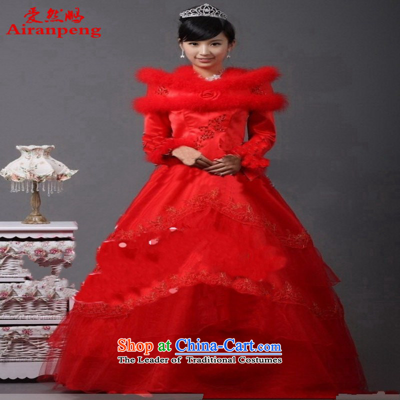 Suzhou wedding pictures of in-kind A-106 winter winter wedding plus cotton wedding red) to the size of the customer to be refunded