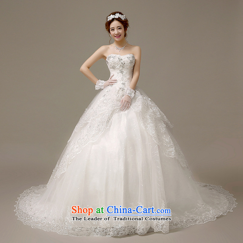 Hiv Miele wedding dresses 2015 new Korean Diamond Silk flower buds anointed chest marriages small trailing integrated Sau San�H-60 with�white�S