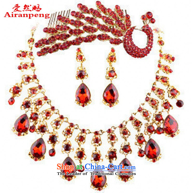 The bride jewelry kits bridal necklace set red marriage Jewelry _ Exp wedding jewelry sets red