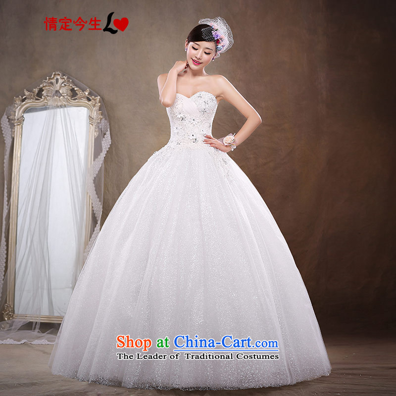 Love of the overcharged 2015 wedding dress suit Korean Style New bride anointed chest female diamond Sau San large wedding dress women pregnant women�XL