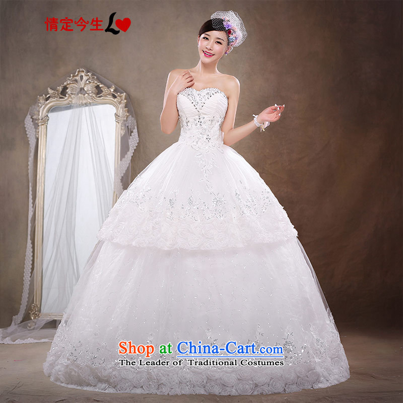 Love of the life of the new Large 2015 pregnant women wedding bride quality custom wiping the Chest Korean dress to align the new luxurious white?S