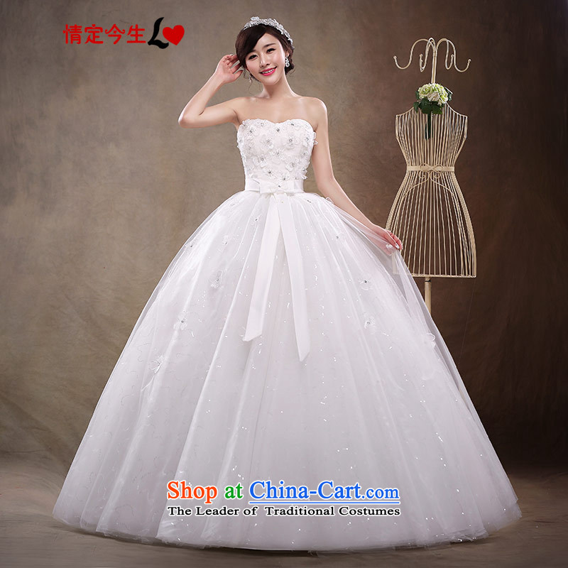 Love of the life of the new 2015 diamond ornaments with Chest Korean brides wedding dresses align to bind with female white�M Wedding dress