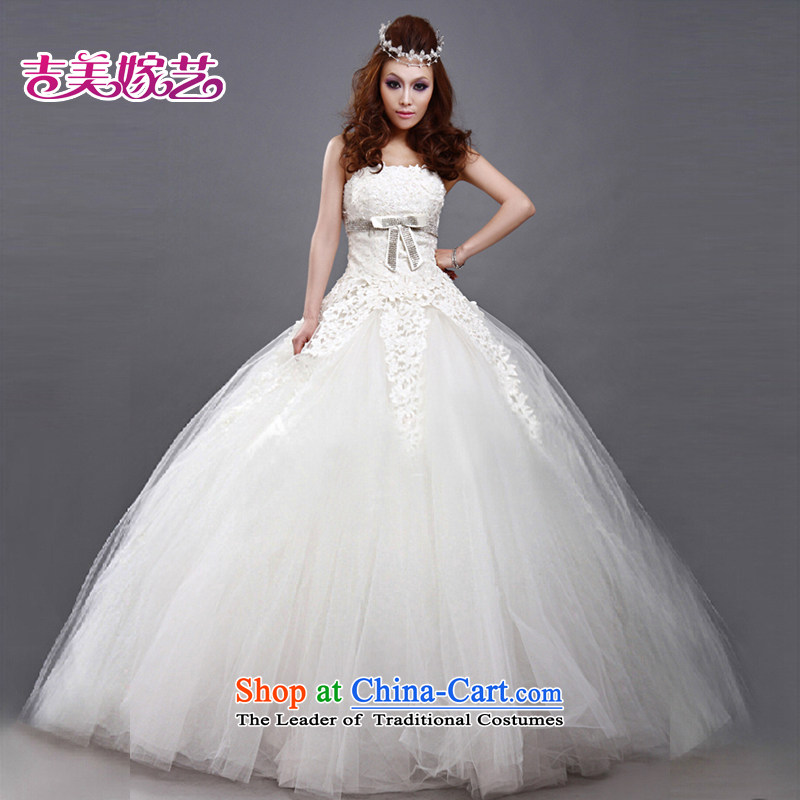 Wedding dress Kyrgyz-american married new anointed arts 2015 Chest Korean skirt to align bon bon video thin HS180 bride wedding white聽L