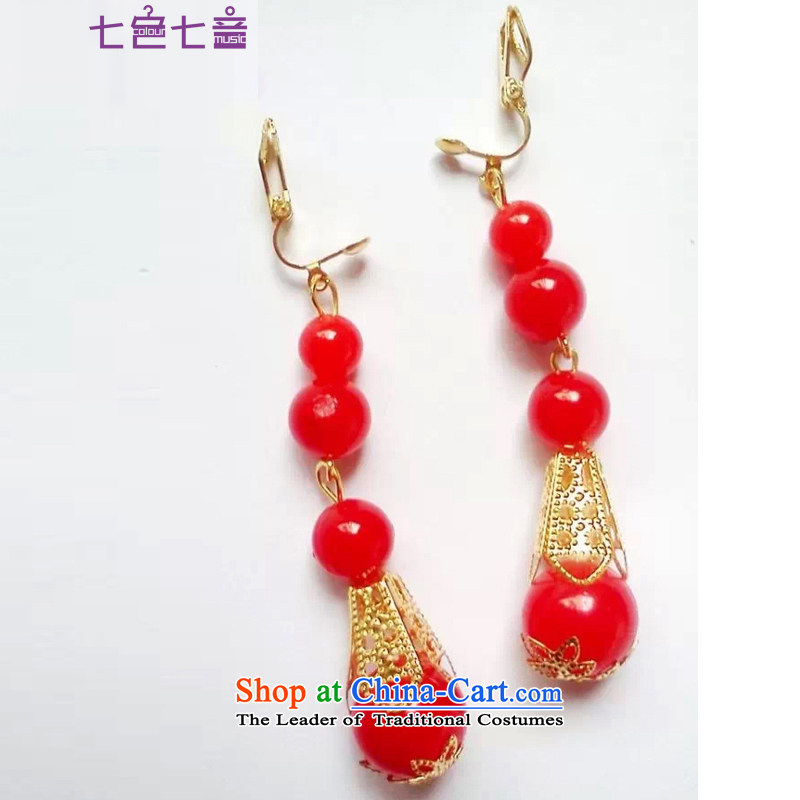 7 7 color tone bride jewelry Chinese cheongsam dress-soo red earrings wo services furnished to the ear-clip Fall Classics ear fall arrest?are Code Red Z001