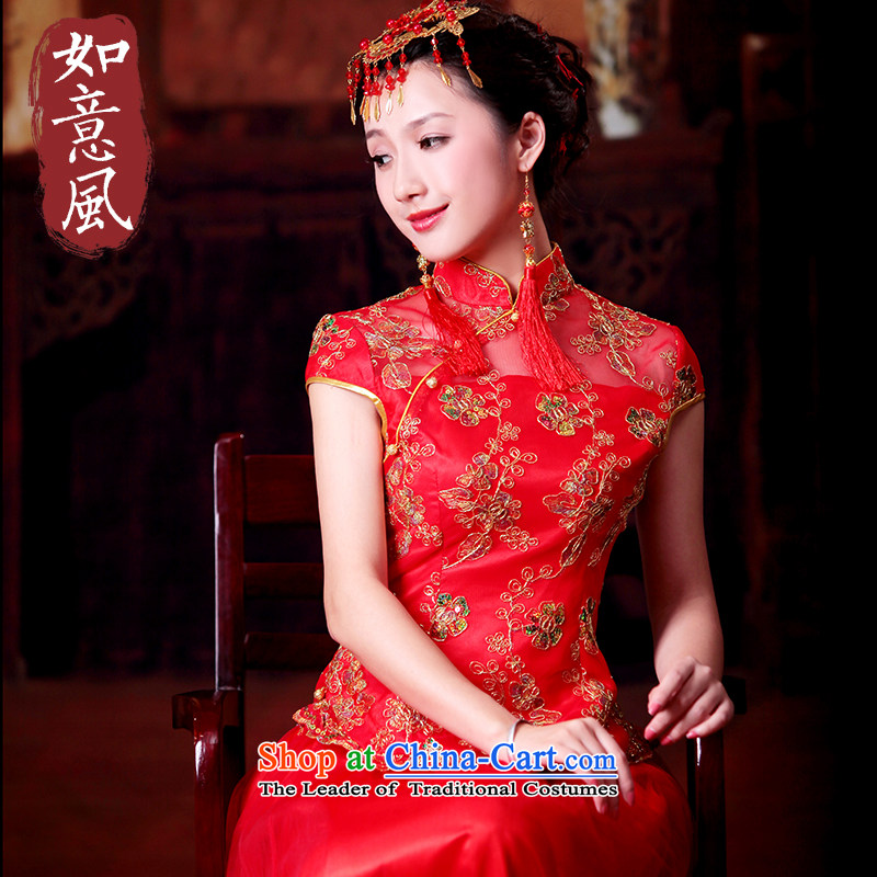 2014 new embroidery on-chip to skirt the bride wedding dress kit wedding dresses kit cheongsam dress large 1095 1095�XL