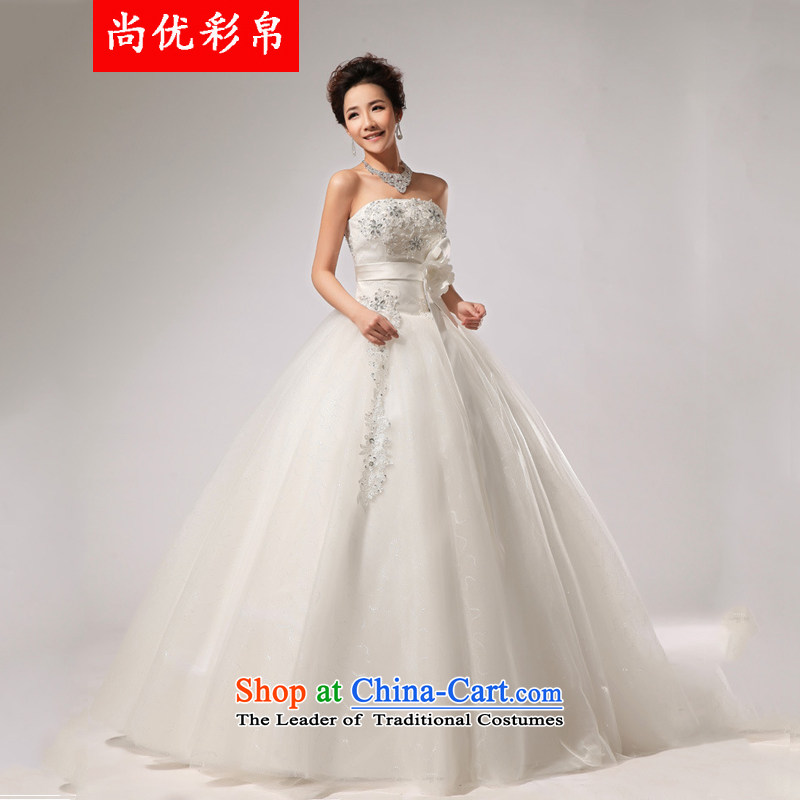 There is also a grand and optimize chest canopy skirt wedding band bride wedding dresses long skirt XS5224 white package�L