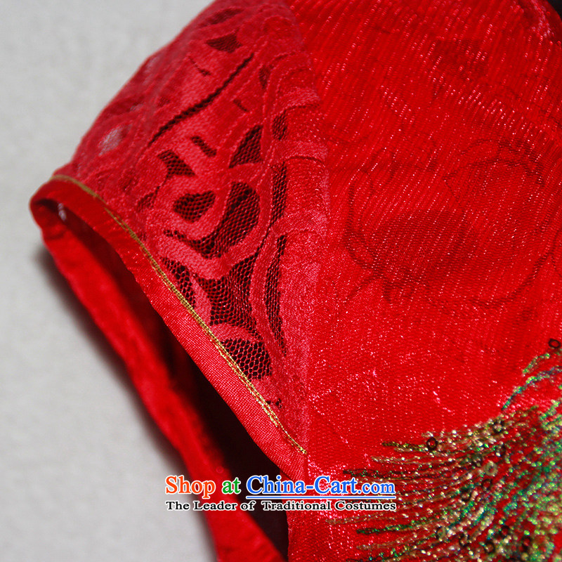 After a day of wind bride bows Services New Red Sau San wedding bride Sau San wedding dress qipao 4609th 4609th red聽after the wind has been pressed, L, online shopping