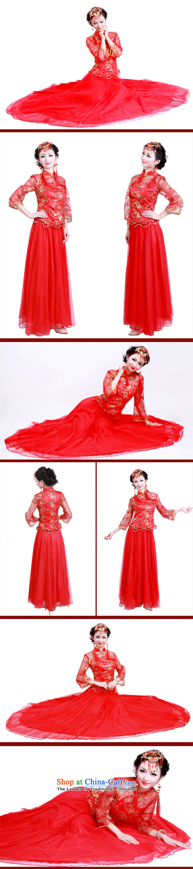 After a day of wind marriages wedding red long wedding dresses to align the new drink evening dresses 3098 3098 Maximum dress XL Photo, prices, brand platters! The elections are supplied in the national character of distribution, so action, buy now enjoy more preferential! As soon as possible.
