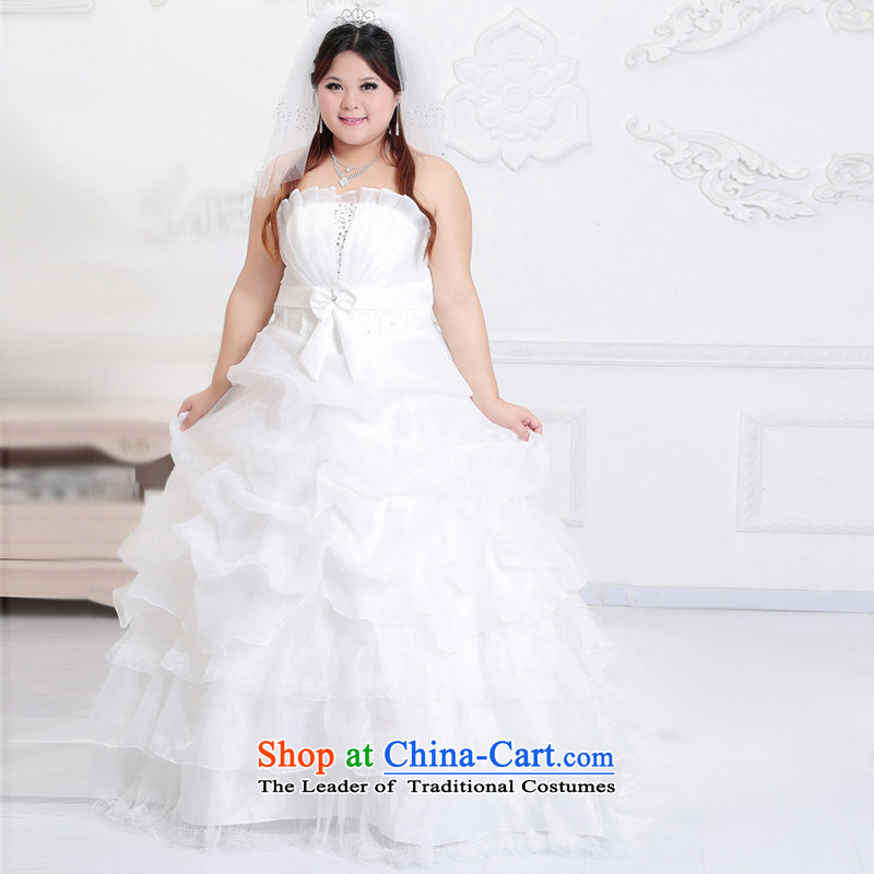 New guijin2013 Keun-shared wedding dresses large wedding Lace Embroidery tail wedding BHS51 m White m White�XXL reservation to align the 3 days from Suzhou Shipment