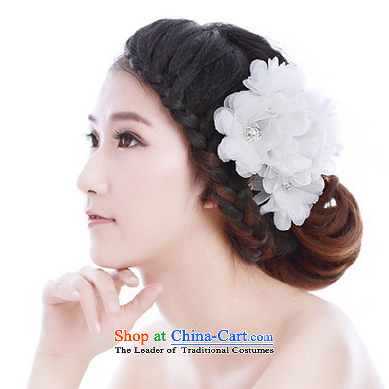 Jasmine laugh mslover Heung-floating flower and bride chuan yarn stereo flowers diamond crystal flower manually head-dress, head in (4 Only HA131004) Red