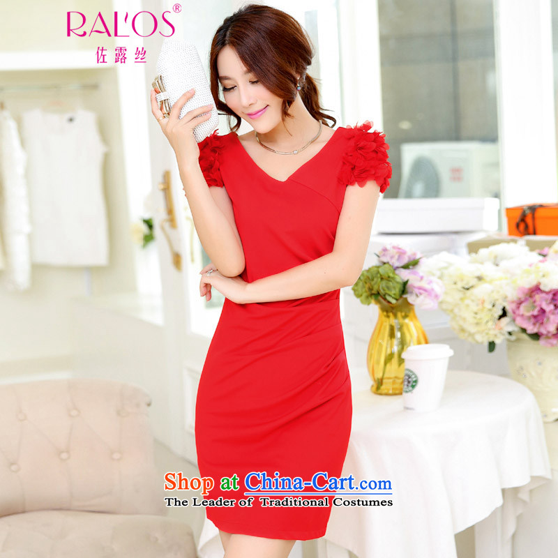 Sato Ruth 2015 new bridesmaid dress bride wedding dresses dinner drink service red red L