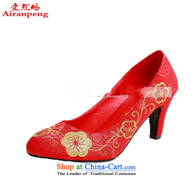 Festive embroidered shoes qipao shoes red shoes with 305 qipao marriage suzhou embroidery�35