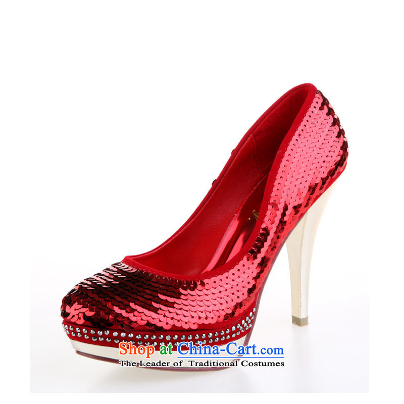 Marriage shoes red marriage shoes wedding dresses shoes bride shoes 2014 women shoes off-chip shoes single shoe red38, love so Peng (AIRANPENG) , , , shopping on the Internet