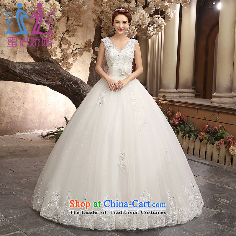 Talk to her wedding dresses new 2015 Palace large stylish retro marriages wedding video thin Princess Korea Sau San edition out of White聽XL