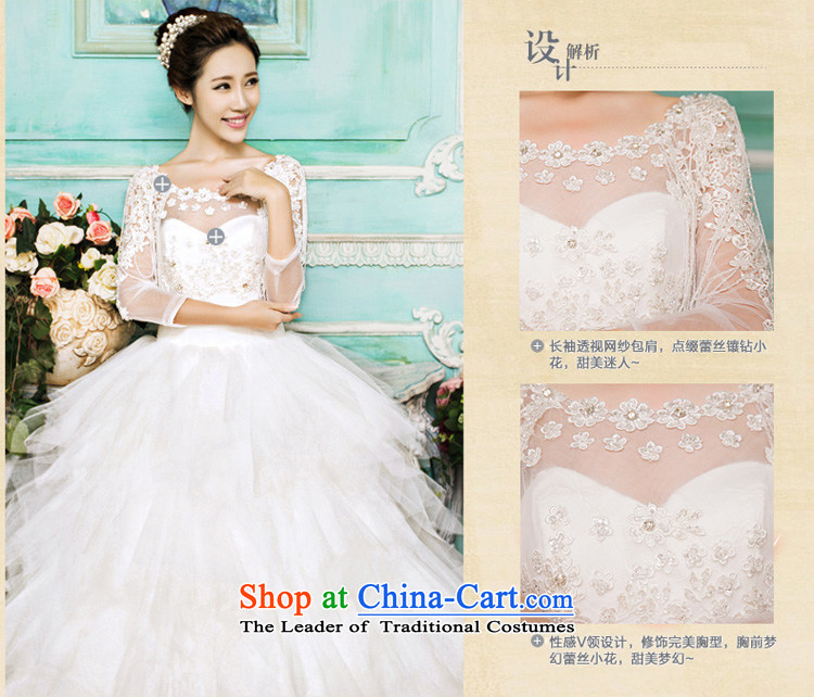 Honeymoon bride 2015 new wedding dresses Korean Antique Lace shoulders wedding alignment to bind with Wedding White聽M pictures, prices, brand platters! The elections are supplied in the national character of distribution, so action, buy now enjoy more preferential! As soon as possible.
