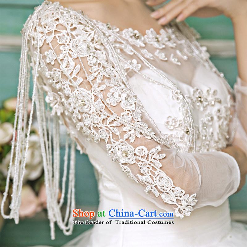 Honeymoon bride 2015 new wedding dresses Korean Antique Lace shoulders wedding alignment to bind with Wedding WhiteM honeymoon bride shopping on the Internet has been pressed.
