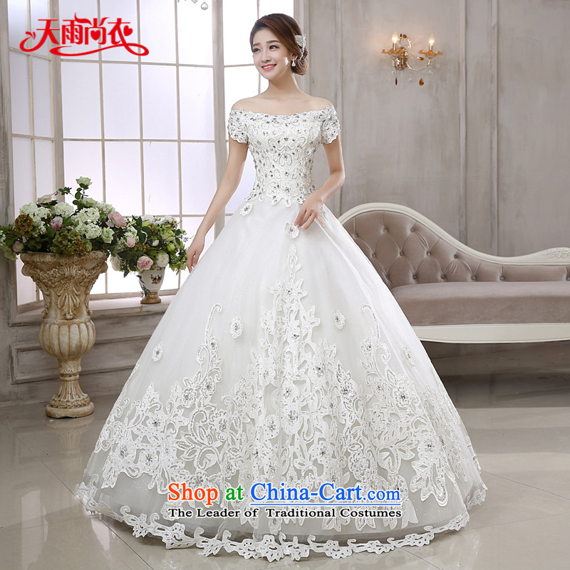 Rain-sang Yi marriages 2015 new high-end stylish Western wind fields shoulder Diamond Video thin white strap wedding HS880 white�S
