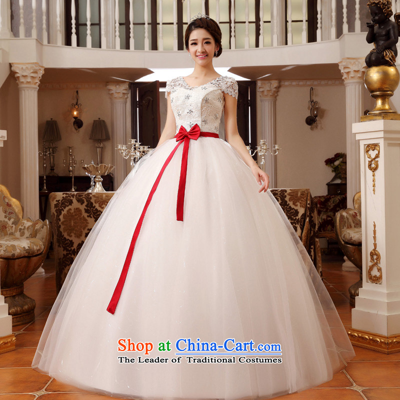The privilege of serving-leung?2015 new bride royal wedding word shoulder lace large Fat MM video thin white?5XL wedding dresses