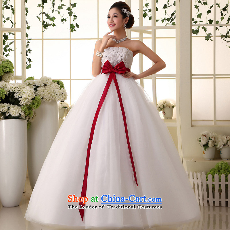 The privilege of serving the new 2015-leung won Top Loin of pregnant women edition wedding dress princess large fat mm top skirt wedding?8XL White