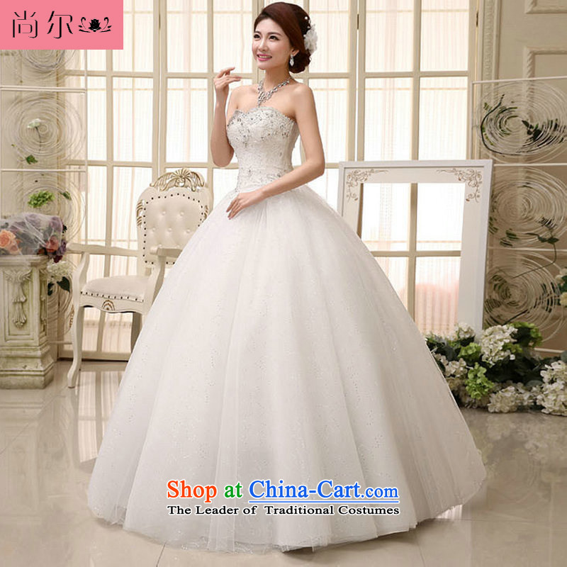 Naoji a 2014 women to align the new bride retro Korean light V-Neck wedding dress lace al00288) White?XL
