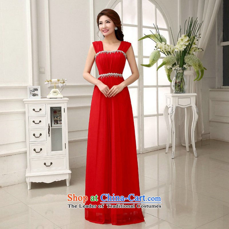 Naoji a 14 bridal bridesmaid wedding wedding long evening dress the betrothal of marriage bows al00281 services with a single red, L, are , , , shopping on the Internet